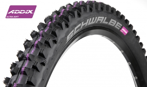 Pneu Schwalbe Dirty Dan - Addix Ultra Soft - Downhill - 2 nappes jante